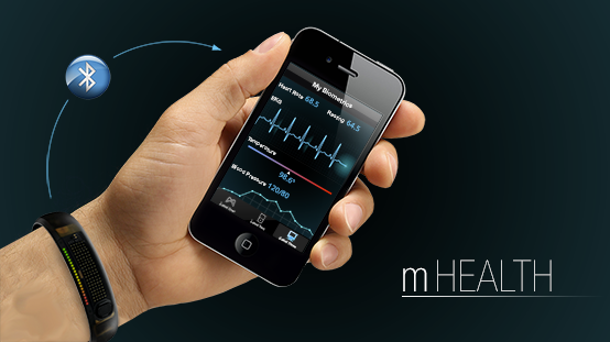 Patient monitoring health with a mobile application