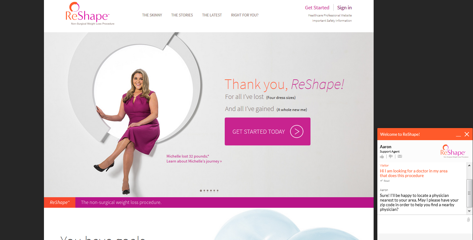 ReShape website development for medical device company