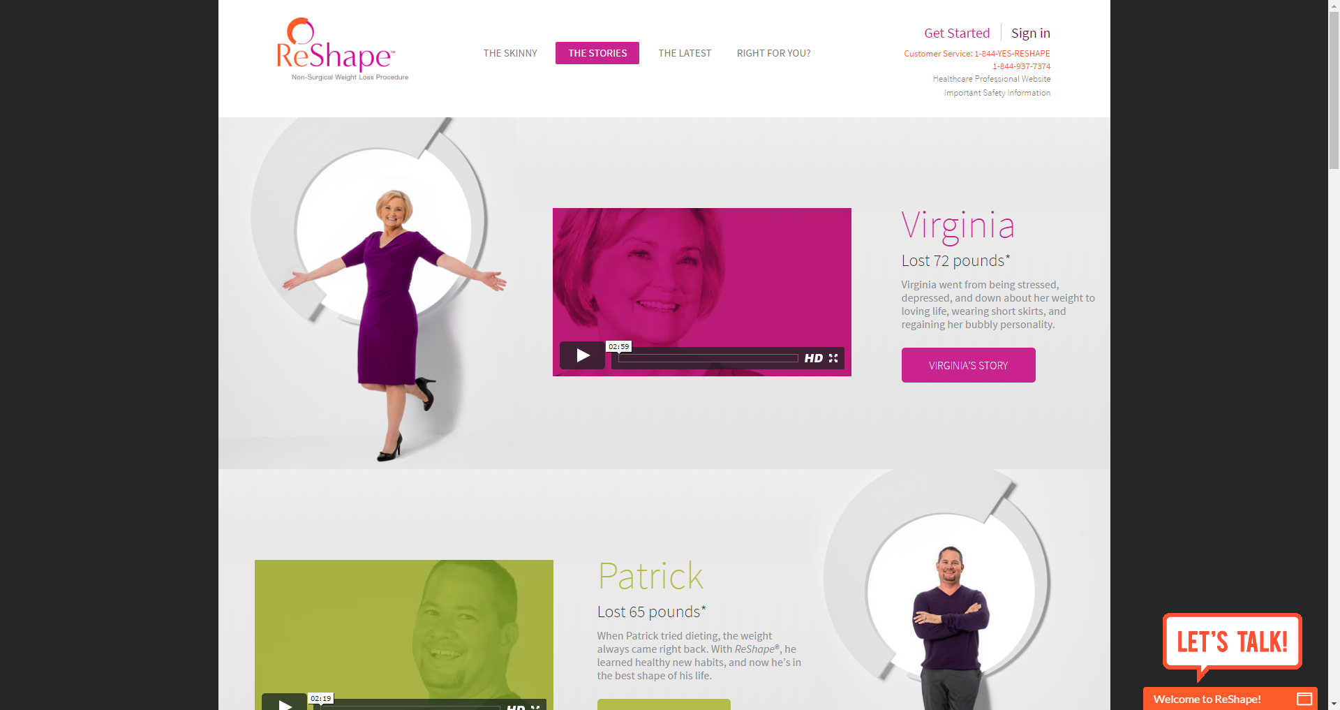 ReShape Medical Device Website Development